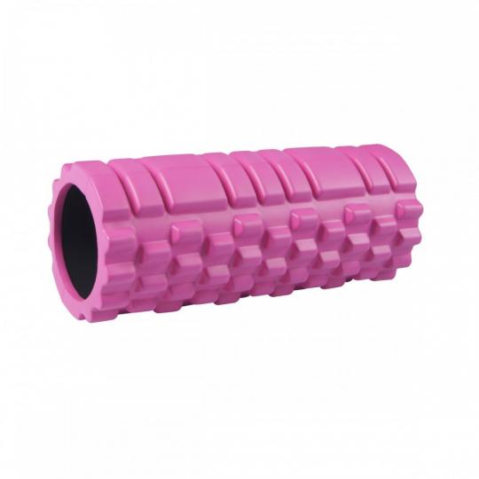 Masažny valec Sportvida 33 x 13 cm rúžový