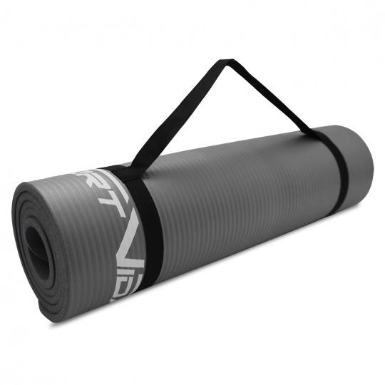Podložka na cvičení NBR SPORTVIDA 1,5 cm šedá