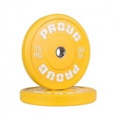 Olympijský kotouč PROUD TRAINING BUMPER PLATE YELLOW 15 kg