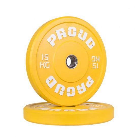 Olympijský kotúč PROUD TRAINING BUMPER PLATE RED 15 kg