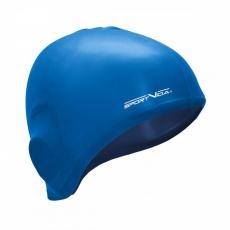 Plavací čepice silikonová modrá