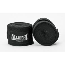 Boxerská bandáž Allright Holland 4,2 m čierna - 2 ks