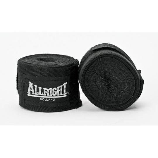 Boxerská bandáž Allright Holland 4,2 m černá - 2 ks