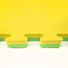 Tatami Puzzle 100x100x2,5 cm,  žlto-zelená