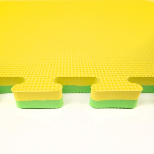 Tatami Puzzle 100x100x2,5 cm,  žluto-zelená