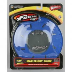 Lietajúci tanier Frisbee Wham-O MAX FLIGHT 160 g svietiacich modrý