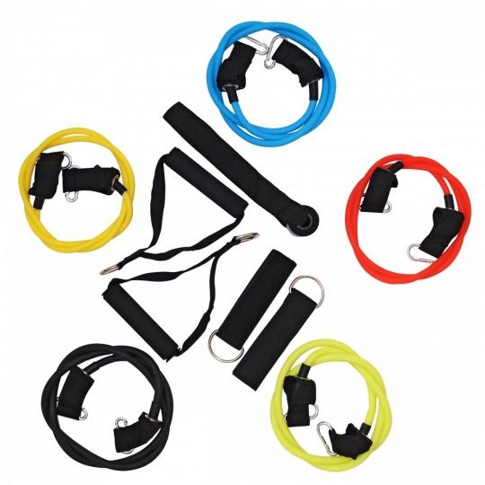 Set expanderů Sportvida s rukojeťmi nastavitelná zátěž
