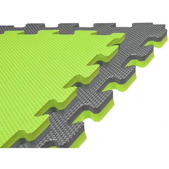 Tatami Puzzle 100x100x4 cm, šedo-zelená
