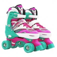 Trekové kolieskové korčule dvojradové Sportvida nastaviteľná veľkosť  ( 31-34 )
