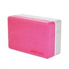 Jóga kocka SPORTVIDA rúžovo-šedá