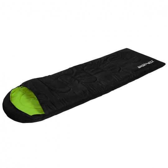 Spacák  černo zelený Sportvida 190g/m2 hollow fibre