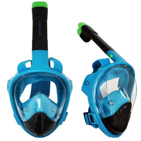 Potápačské celotvárová maska Sportvida L / XL modro-čierna