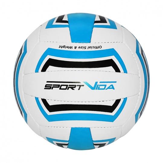 Volejbalová lopta Sportvida modro-čierno-biely