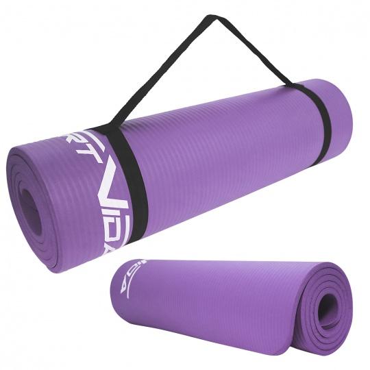 Podložka na cvičení NBR SPORTVIDA 1 cm fialová