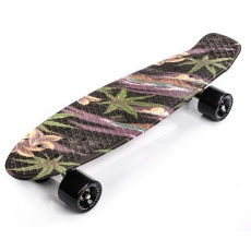 PENNYBOARD METEOR MULTIKOLOR FLOWERS black