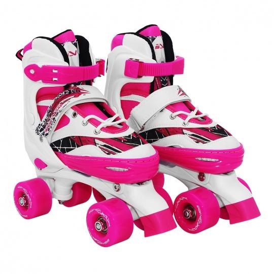 Trekové kolieskové korčule dvojradové Sportvida nastaviteľná veľkosť 31-34