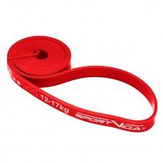 Odporová guma Sportvida 208x2x0,45 cm červená