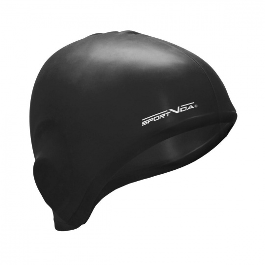 Plavací čepice silikonová černá