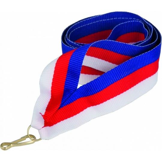 Stuha modro-červeno-bílá 11 mm (CZK)