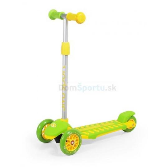 Trojkoliesková kolobežka SMJ sport zeleno-žltá