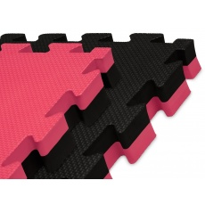 Tatami puzzle 100 x 100 x 4 cm červeno-černé