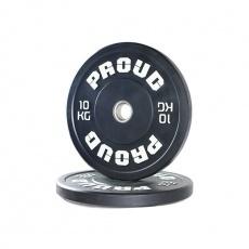 Olympijský kotúč PROUD TRAINING BUMPER PLATE BLACK 10 kg