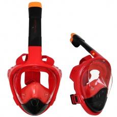 Potápěcí celoobličejová maska Sportvida S/M černo-červená