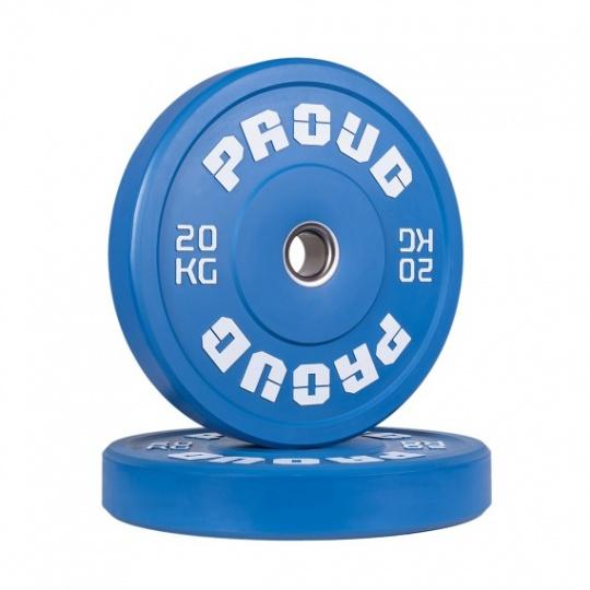 Olympijský kotouč PROUD TRAINING BUMPER PLATE BLUE 20 kg