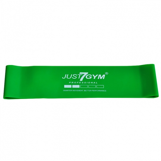Mini power band 61x5x0,07 cm zelený Just7Gym