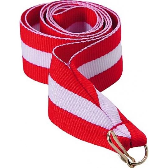Stuha červeno-bílo-červená 11 mm