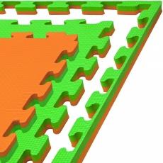 Tatami puzzle 100 x 100 x 2 cm oranžovo-zelená
