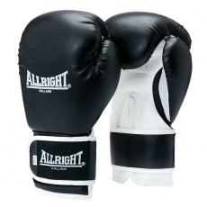 BOXERSKE RUKAVICE POWER GEL ALLRIGHT HOLLAND 10oz čierno-biele