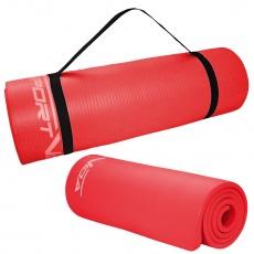 Podložka na cvičenie NBR 1,5 cm červená