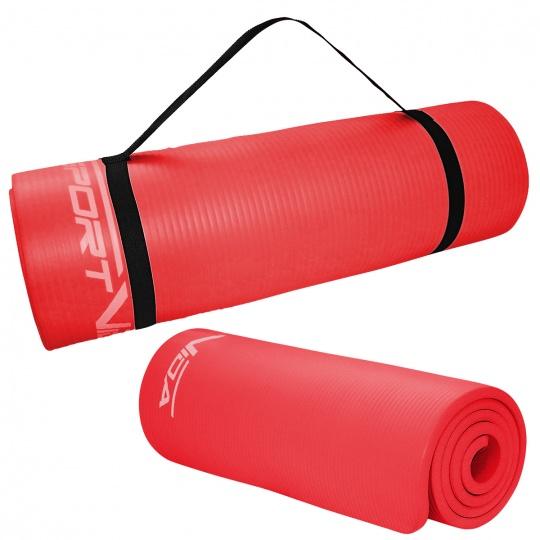 Podložka na cvičení NBR SPORTVIDA 1,5 cm červená