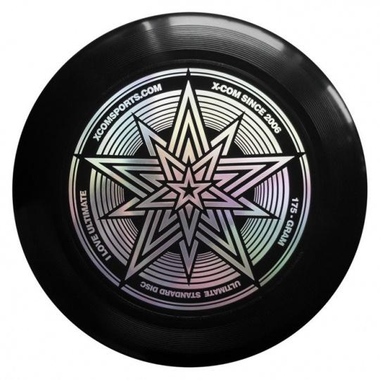 Létajicí talíř Frisbee X-COM UP175 STAR BLACK Ultimate 175 g černý