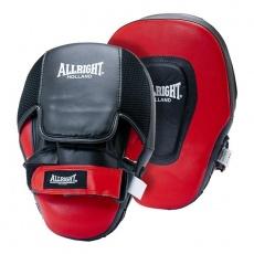 Boxerské lapy profilované Allright černo - červené
