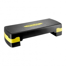 Aerobic step 4FIZJO 2-stupňový - žltý