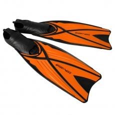 Potápačské plutvy dlhé oranžovej