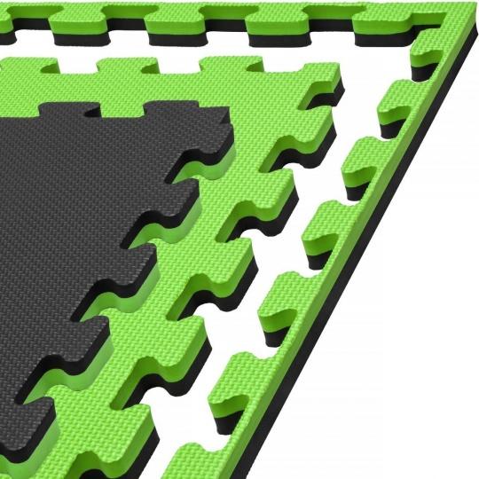 Tatami Puzzle 100x100x2 cm, černo-zelená