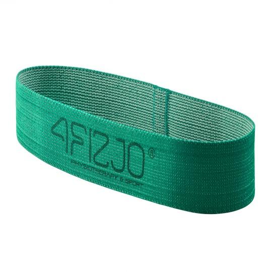 Textilný Flex Band 4FIZJO zelený odpor 5 - 10  kg