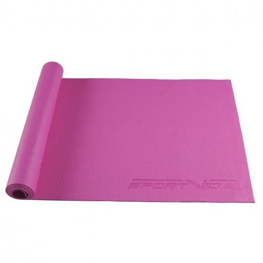 Podložka na cvičení jogy 4 mm Sportvida růžová