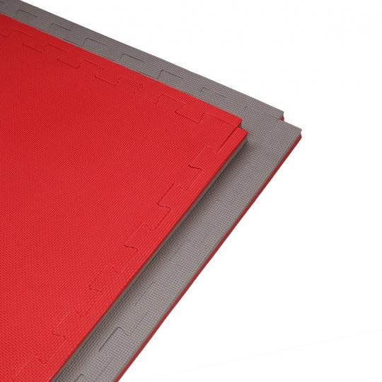 Tatami puzzle 100x100x2cm,  červeno-šedé