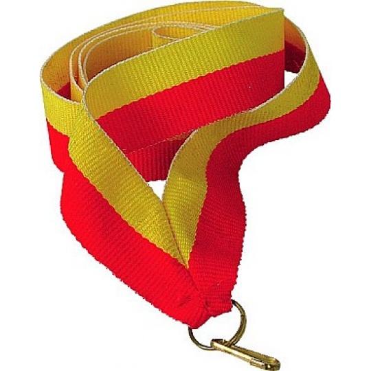 Stuha žluto-červená 22 mm