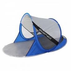 Plážový stan modro-stříbrný