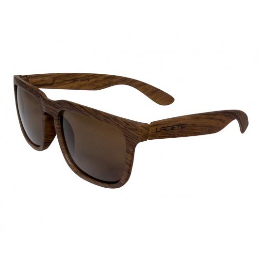 Sluneční brýle Laceto WOODY BROWN