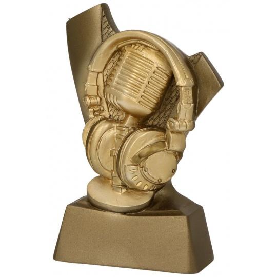 Odlevaná figurka mikrofon