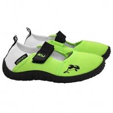 Topánky do vody Sportvida Junior zeleno-biele