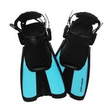 Potápačské plutvy krátke modré Sportvida nastaviteľná veľkosť