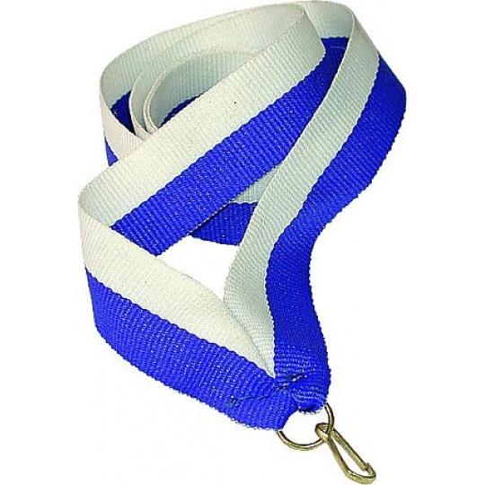 Stuha bílo-modrá 22 mm