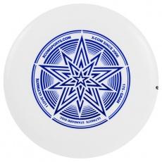 Lietajúci tanier Frisbee X-COM UP175 Ultimate STAR UV 175 g biely - chameleon